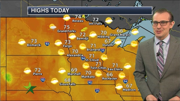 Afternoon forecast: 71, mostly sunny, breezy