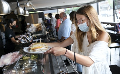 Jadyn Dana, of Hudson, Wis., had lunch at Cafe Latte in St. Paul in July.