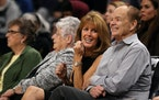 Glen Taylor and his wife, Becky, watched a Timberwolves game in 2017 at Target Center.