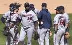 Twins manager Rocco Baldelli pulled Michael Pineda in the sixth inning. Pineda allowed three runs in 5 1⁄3 innings for his second loss this season.