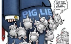 Sack cartoon: GOP has reached the bottom