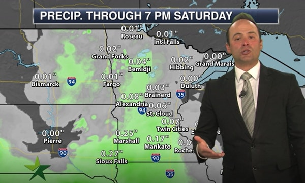 Evening forecast: Low of 50 with clouds; touch of rain possible Friday afternoon