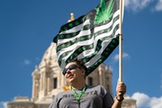 Jenny Eagan of MN NORML came out to the Minnesota State Capitol, along with around 40 other supporters of legalizing marijuana, ahead of the Minnesota