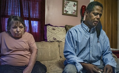 Andre Moore, right, said he suffers PTSD from the treatment at the hands of cops.