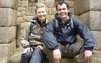 Tara and Jordan Harvey, founders of Knowmad Adventures, at Machu Picchu, Peru, in 2013.