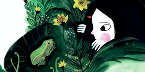"From ""Dear Treefrog,""  by Joyce Sidman, illustration by Diana Sudyka, Houghton Mifflin Harcourt Books for Young Readers"
