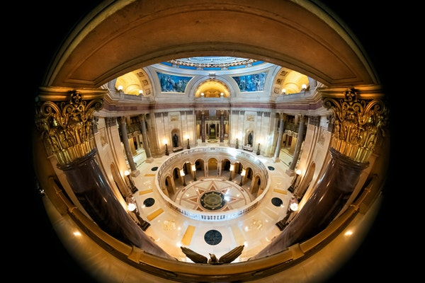 The Minnesota State Capitol was mostly empty in the hours leading up to the House debate on legalizing cannabis.