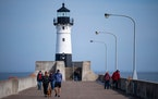 FILE- The federal government is giving away the Duluth Harbor North Pierhead Light — to the right careetaker.