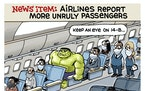 Sack cartoon: Unruly airline passengers