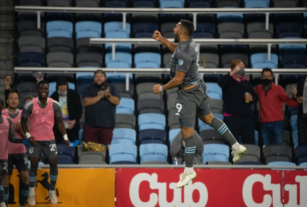 Minnesota United forward Ramon Abila celebrated his goal against Vancouver on Wednesday at Allianz Field.