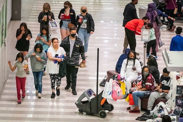 Most shoppers at Mall of America still chose to wear masks Friday, the day Gov. Tim Walz lifted the mask mandate for Minnesota.