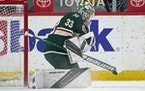 Wild goalie Cam Talbot has a .923 save percentage in the playoffs, including a 60-save performance for Edmonton in Game 5 of a 2017 series against Ana