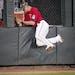 RENEE JONES SCHNEIDER • renee.jones@startribune.com Twins center fielder Max Kepler crashed into the wall to catch a drive by Oakland's Sean Murph