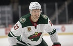 Nick Bjugstad had six goals and 11 assists in 44 games with the Wild this season.