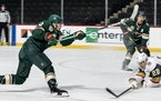 Kevin Fiala (22) of the Minnesota Wild shot and scored a goal in the first period.             ] CARLOS GONZALEZ ¥ cgonzalez@startribune.com Ð St. P
