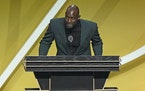 Kevin Garnett spoke during the 2020 Basketball Hall of Fame enshrinement ceremony Saturday after a one-year delay caused by the coronavirus pandemic.