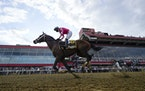 Flavien Prat atop Rombauer won the 146th Preakness Stakes at Pimlico Race Course in Baltimore on Saturday.