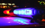 A close-up photo of police lights by night. (Dreamstime/TNS) ORG XMIT: 1263042