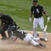 AL MVP Jose Abreu gave White Sox fans a scare when he was involved in a collision with Kansas City on Friday, but he returned to play over the weekend