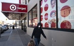 Pictured is the Target in Brooklyn. The Minneapolis-based retailer is no longer requiring masks in stores where the municipality does not require them