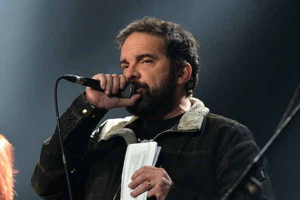 Brian Oake introduced bands during the Current's birthday bash at First Avenue in 2016 just weeks after (temporarily) leaving Cities 97.