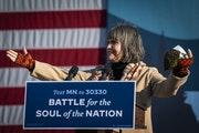 U.S. Rep. Betty McCollum, D-Minn, spoke last October at a Biden campaign rally in Minnesota. LEILA NAVIDI • leila.navidi@startribune.com