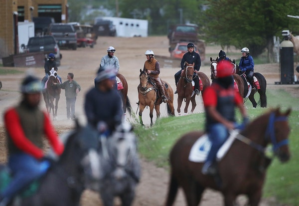 Photographs by DAVID JOLES • djoles@startribune.com With 1,100 horses already on the grounds, and 400 still to arrive, Canterbury Park is ready for