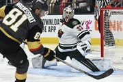 Wild goalie Cam Talbot stonewalled Jonathan Marchessault and the rest of the Golden Knights in Game 1.