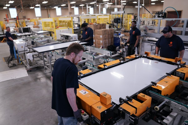 The solar panel manufacturer Heliene in Mountain Iron could get more space from funds approved by a Minnesota House and Senate conference committee. P