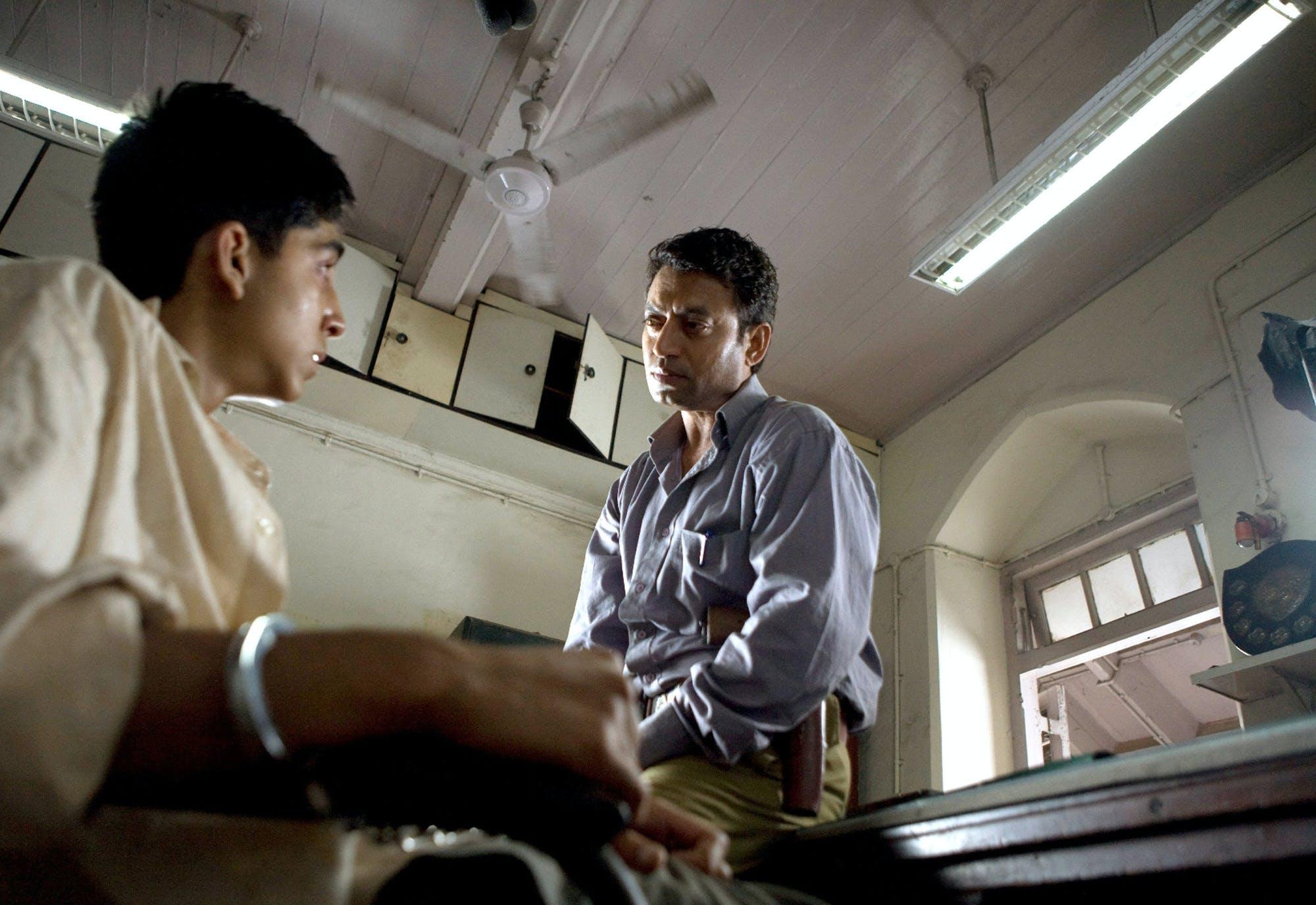 Dev Patel and Irrfan Khan in 'Slumdog Millionaire.'