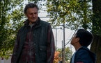 """Liam Neeson and Jacob Perez in """"The Marksman."""""""