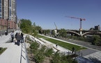 Grand opening of Water Works park redevelopment of Mill Ruins Park downtown. Mezzanine Lawn and City Steps.brian.peterson@startribune.comMinneapolis,