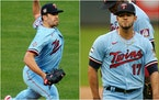 Lewis Thorpe (left) and Jose Berrios are today's starting pitchers for the Twins.