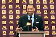 The new Gopher men's basketball coach was introduced to the media on March 23