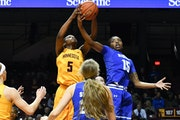 Deja Winters (15) played for Seton Hall against the Gophers in 2016.