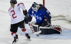 Maddie Rooney, making the shootout save to secure the gold medal in 2018, will be among four goalies in the U.S. Women's National Team's selection