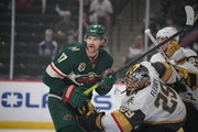 Left winger Marcus Foligno and the Wild have had trouble getting the puck past Golden Knights goalie Marc-Andre Fleury on the power play and at even s