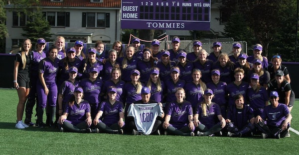 The St. Thomas softball team is returning to the Division III College World Series after beating top-seeded St. Olaf 3-0 for an NCAA regional title in