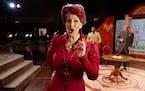 "Ellie Dehn as Lady Billows and Allen Michael Jones as Mr. Budd in Minnesota Opera's ""Albert Herring."""