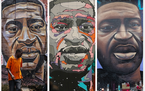 Over the past year, artists worldwide have created murals of George Floyd — including these from Kenya, Belgium and Milwaukee — after he was murde