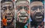 Over the past year, artists around the world have created murals of George Floyd — including these from Kenya, Belgium and Milwaukee — after he wa