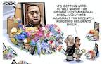 Sack cartoon: Minneapolis Memorials