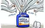 Sack cartoon: McConnell's milk of amnesia