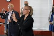 Minnesota Housing Commissioner Jennifer Ho spoke last summer about giving out housing assistance to prevent evictions. DAVID JOLES • STAR TRIBUNE