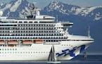 The Grand Princess cruise ship near Juneau, Alaska, in 2018.