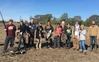 Through the Minnesota Conservation Federation, students participated in a Canada goose hunt near Byron, Minn., in October 2019. It was a first-time ev