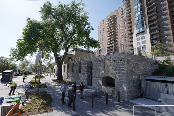 Owamni at Water Works Park in downtown Minneapolis will have a multiple outdoor dining options when it opens this summer.