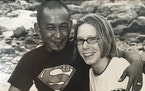 Mukhiya and Konnie Gurung in Nepal in 2001. They'll go back this fall.