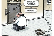 Sack cartoon: The Wuhan lab