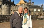 Retired Dr. Tony Stifter and Carol Giuliani, owner of Senior Travel Companion Services, on a tour of Scotland in 2018.